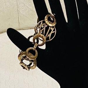 Vintage Monet Hammered Metal Bracelet *628*